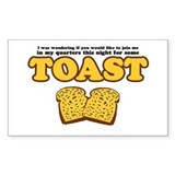 Nacho - Toast Rectangle Decal