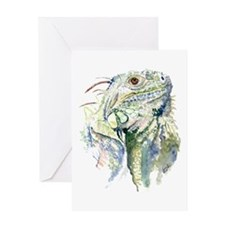 Rex the Iguana Greeting Card