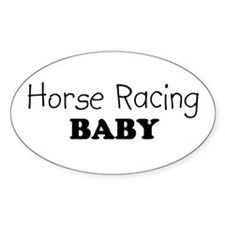 Horse Racing baby Oval Decal