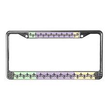 Fleur de lis Mardi Gras beads License Plate Frame