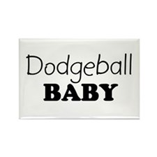 Dodgeball baby Rectangle Magnet