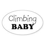 Climbing baby Oval Sticker