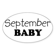 September baby Oval Decal