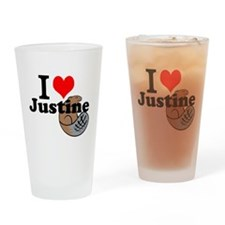 justine beaver Drinking Glass