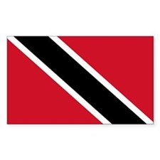 Flag of Trinidad and Tobago Rectangle Decal