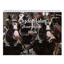 Clydesdale Four-Horse Hitch Wall Calendar