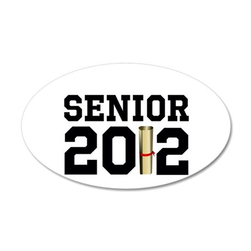 Senior 2012 (Diploma) 38.5 x 24.5 Oval Wall Peel