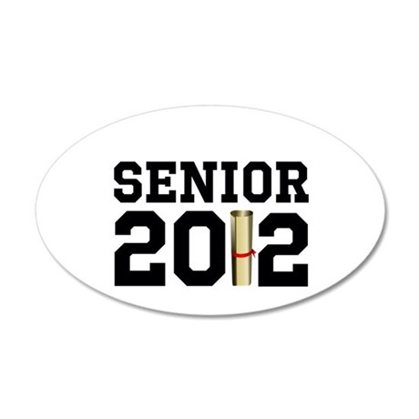 Senior 2012 (Diploma) 22x14 Oval Wall Peel