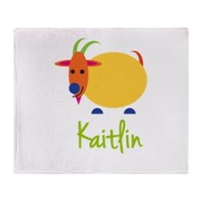 Kaitlin The Capricorn Goat Throw Blanket