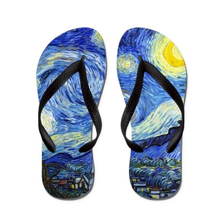 Van Gogh - Starry Night Flip Flops