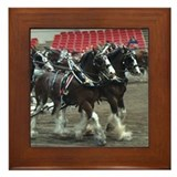 Clydesdale Four-Horse Hitch Framed Tile