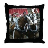 Clydesdale Four-Horse Hitch Throw Pillow