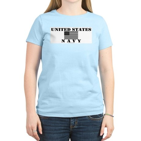 US Navy Women's Pink T-Shirt
