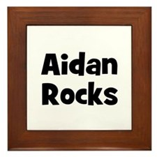 Aidan Rocks Framed Tile