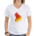 Gamecock Pea Comb Women's V-Neck T-Shirt