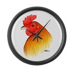 Gamecock Pea Comb Large Wall Clock