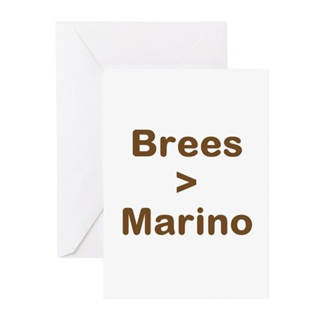 Brees Greater than Marino Greeting Cards (Pk of 10