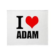 I Heart Adam Throw Blanket