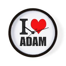 I Heart Adam Wall Clock
