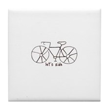 """Let's Ride"" Tile Coaster"