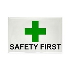 SAFETY FIRST - Rectangle Magnet (100 pack)