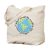 Musical World Quote Tote Bag