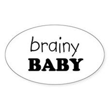 brainy baby Oval Decal