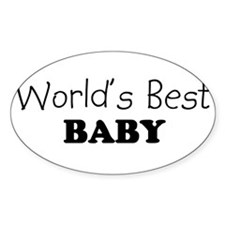 Worlds Best baby Oval Decal