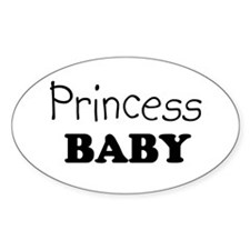 Princess baby Oval Decal