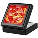 Pentagram Fire Butterfly Keepsake Box