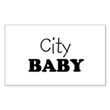 City baby Rectangle Decal