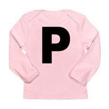 Letter P Long Sleeve Infant T-Shirt