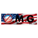 O.M.G. Obama Must Go Bumper Car Sticker