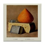 Cheese Variety Print Tile Coaster