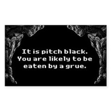 Zork Grue Bumper Decal