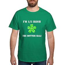 Funny Half Irish the Bottom 1/2 Green T-Shirt