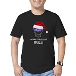 Merry Christmas Balls Men's Fitted T-Shirt (dark)