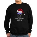 Merry Christmas Balls Sweatshirt (dark)