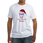 Merry Christmas Balls Fitted T-Shirt