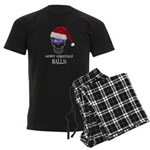 Merry Christmas Balls Men's Dark Pajamas
