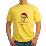 Merry Christmas Balls Yellow T-Shirt