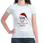 Merry Christmas Balls Jr. Ringer T-Shirt