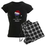 Merry Christmas Balls Women's Dark Pajamas