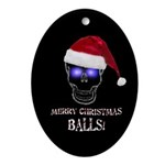 Merry Christmas Balls Ornament (Oval)