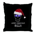 Merry Christmas Balls Throw Pillow