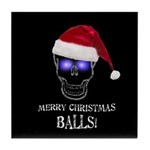 Merry Christmas Balls Tile Coaster