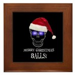 Merry Christmas Balls Framed Tile