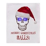 Merry Christmas Balls Throw Blanket