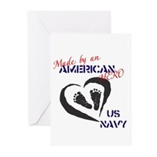 Made by American Hero - Navy Greeting Cards (Pk of