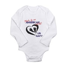 Made by American Hero - Navy Long Sleeve Infant Bo